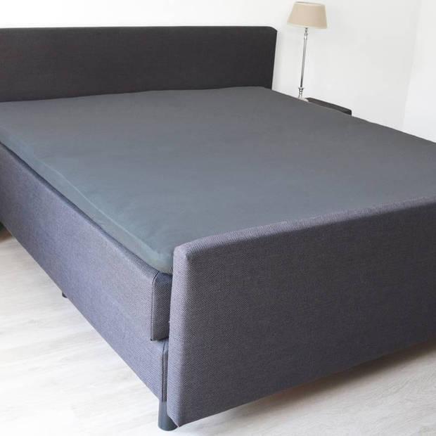 Snoozing - Topper - Hoeslaken - 100x220 cm - Percale katoen - Antraciet