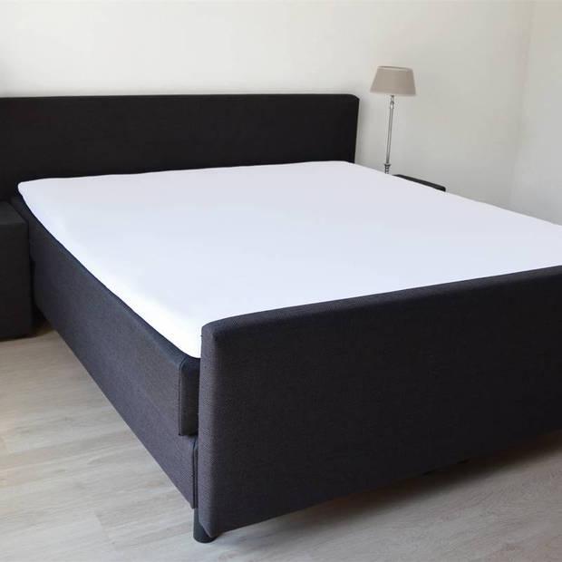 Snoozing - Topper - Hoeslaken - 80x220 cm - Percale katoen - Wit