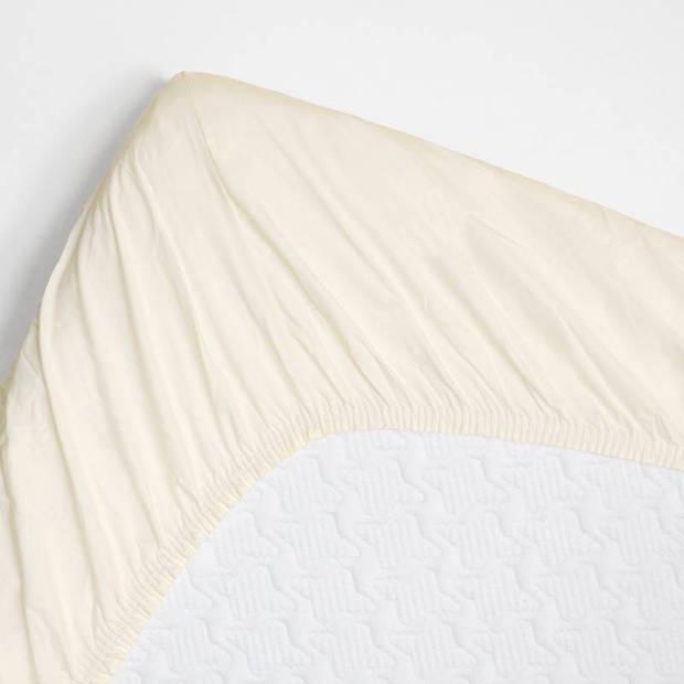 Snoozing - Hoeslaken -90x210 - Percale katoen - Ivoor