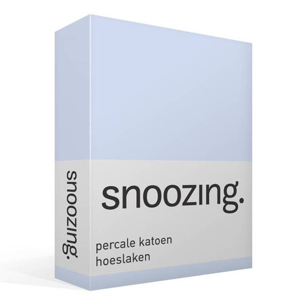 Snoozing - Hoeslaken -80x220 - Percale katoen - Hemel