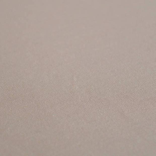 Snoozing - Laken - Eenpersoons - Percale katoen - 150x260 - Taupe