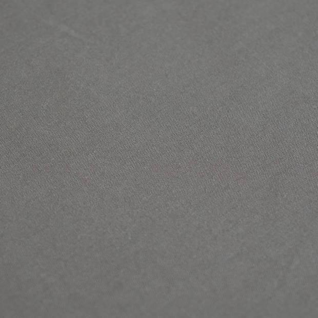 Snoozing - Laken - Lits-jumeaux - Percale katoen - 280x300 - Antraciet