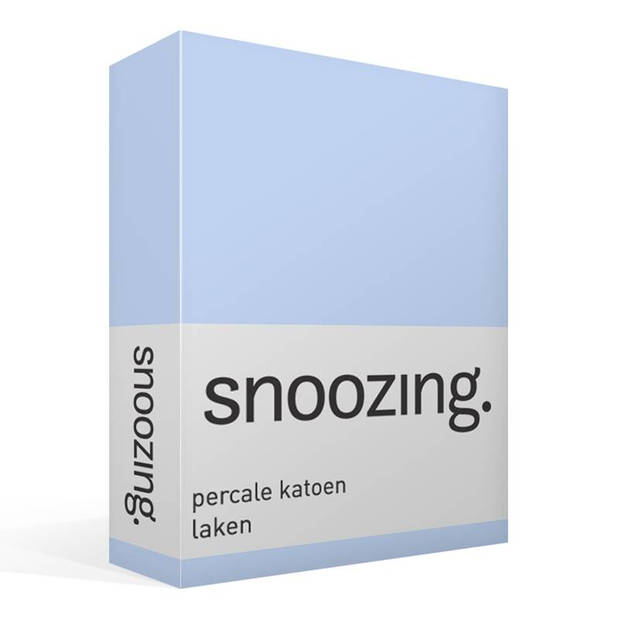 Snoozing - Laken - Lits-jumeaux - Percale katoen - 280x300 - Hemel