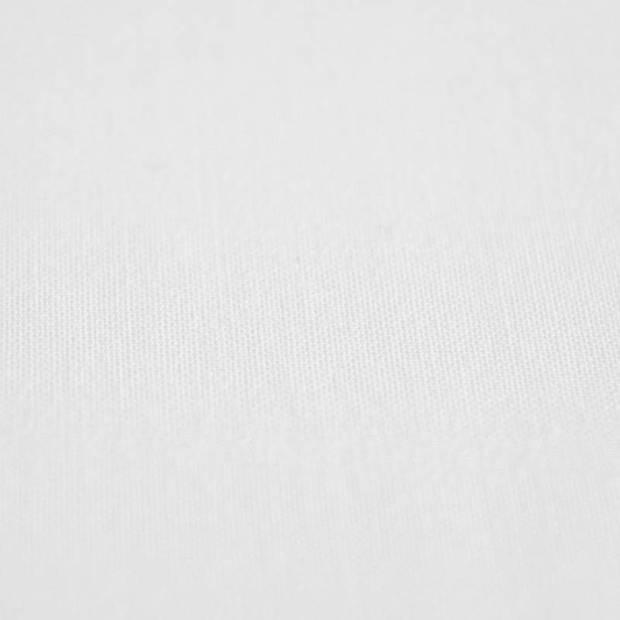 Snoozing - Laken - Eenpersoons - Percale katoen - 150x260 - Wit