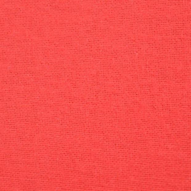 Snoozing - Laken - Eenpersoons - Percale katoen - 150x260 - Rood