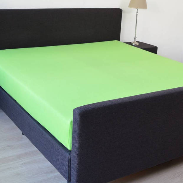 Snoozing - Hoeslaken - Percale katoen - Extra Hoog - 100x200 - Lime