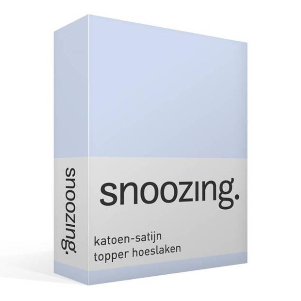 Snoozing - Katoen-satijn - Topper - Hoeslaken - 140x220 - Hemel