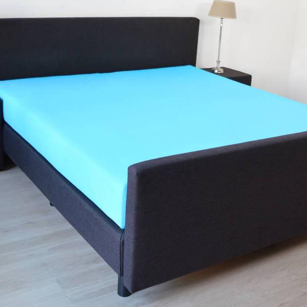 Snoozing - Katoen-satijn - Hoeslaken - 150x200 - Turquoise