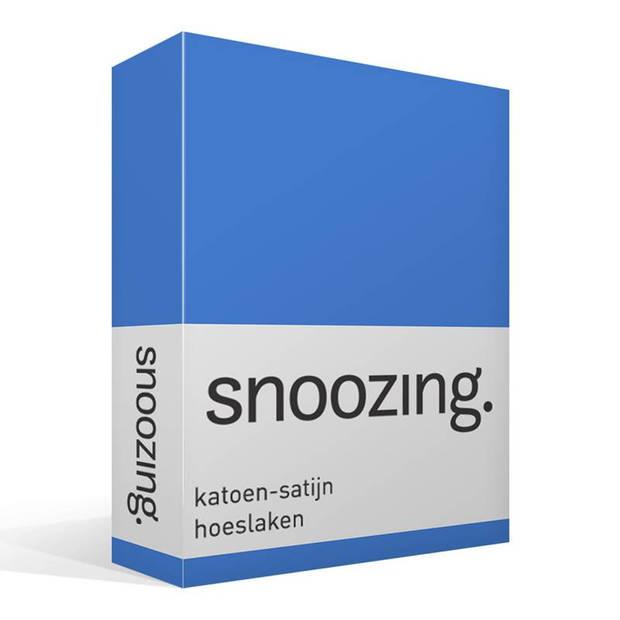 Snoozing - Katoen-satijn - Hoeslaken - 120x220 - Meermin