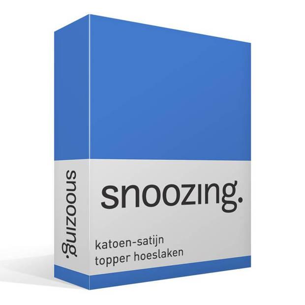 Snoozing - Katoen-satijn - Topper - Hoeslaken - 90x220 - Meermin
