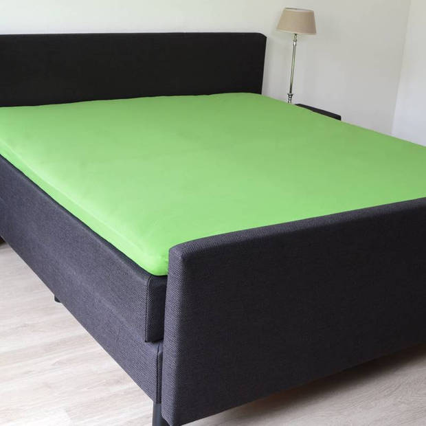 Snoozing - Katoen-satijn - Topper - Hoeslaken - 70x200 - Lime