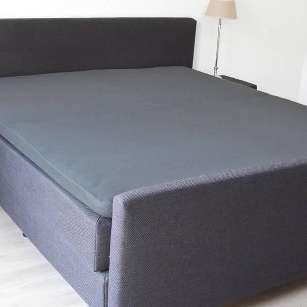 Snoozing - Katoen-satijn - Topper - Hoeslaken - 80x220 - Antraciet