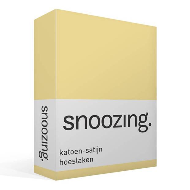 Snoozing - Katoen-satijn - Hoeslaken - 100x220 - Geel