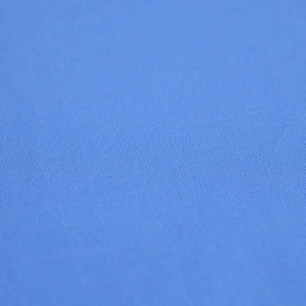 Snoozing - Katoen-satijn - Laken - Eenpersoons - 280x300 - Blauw