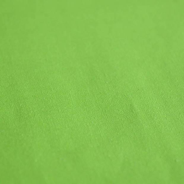 Snoozing - Katoen-satijn - Laken - Eenpersoons - 240x260 - Groen