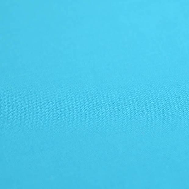 Snoozing - Katoen-satijn - Laken - Eenpersoons - 150x260 - Turquoise