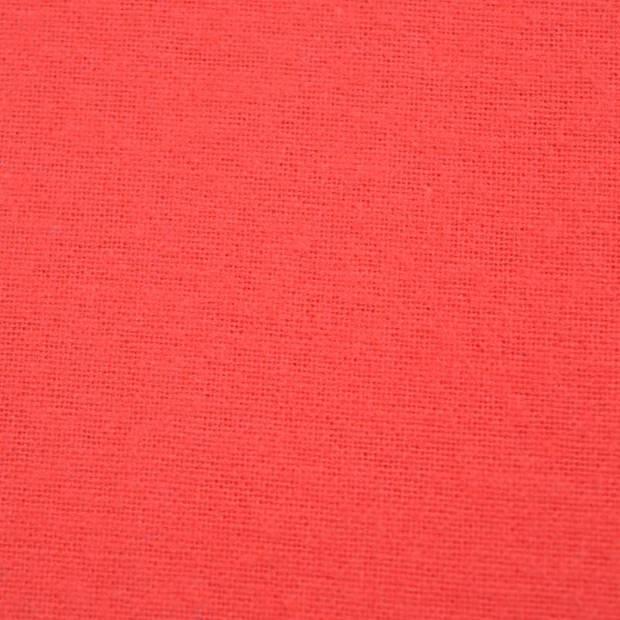 Snoozing - Katoen-satijn - Laken - Eenpersoons - 200x260 - Rood