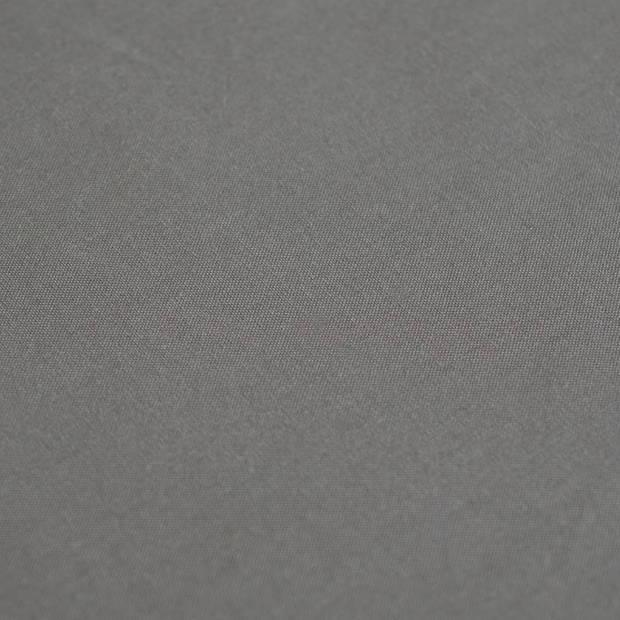 Snoozing - Katoen-satijn - Laken - Eenpersoons - 150x260 - Antraciet