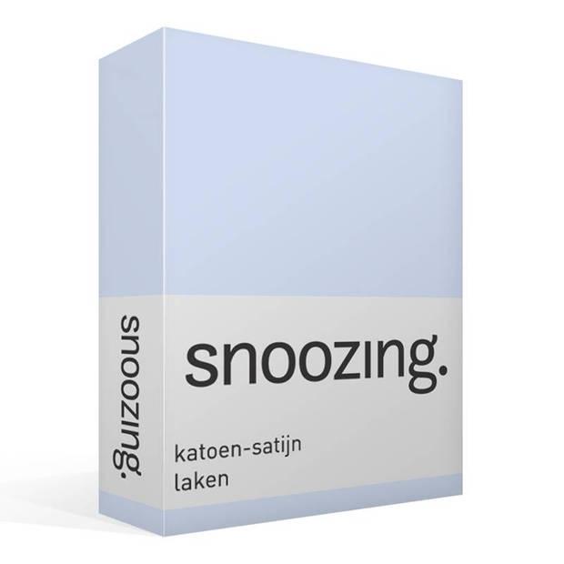 Snoozing - Katoen-satijn - Laken - Eenpersoons - 200x260 - Hemel