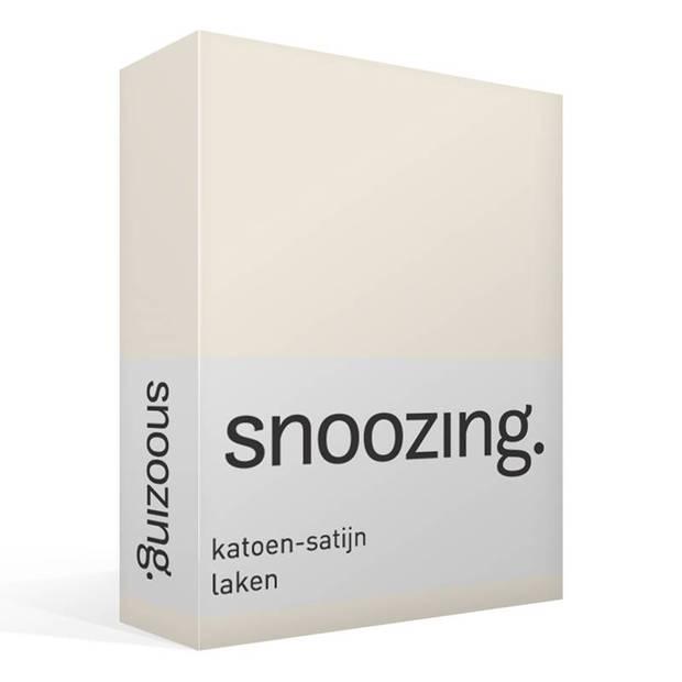 Snoozing - Katoen-satijn - Laken - Eenpersoons - 200x260 - Wit