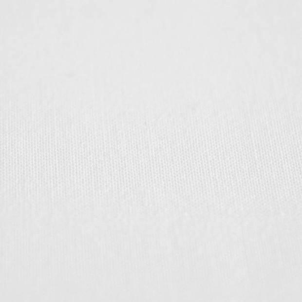 Snoozing - Katoen-satijn - Laken - Eenpersoons - 150x260 - Wit