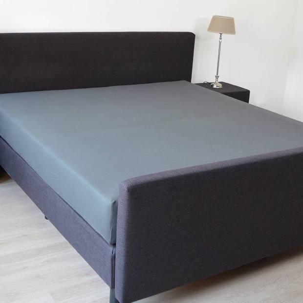 Snoozing - Katoen-satijn - Hoeslaken - Extra Hoog - 90x220 - Antraciet