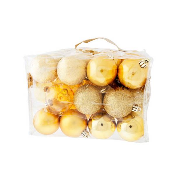 Cosy & Trendy Kerstballen assorti 6 cm - goud (48 stuks)