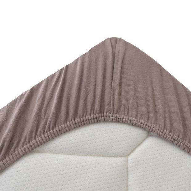 Snoozing Jersey Stretch - Hoeslaken - 140/150x200/220/210 - Taupe