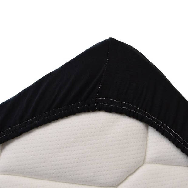 Snoozing Jersey Stretch - Hoeslaken - 120/130x200/220/210 - Zwart