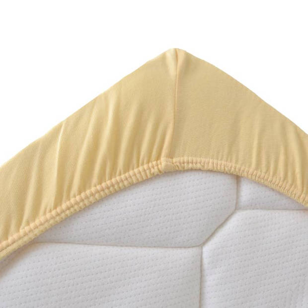 Snoozing Jersey Stretch - Hoeslaken - 70/80x200/220/210 - Geel