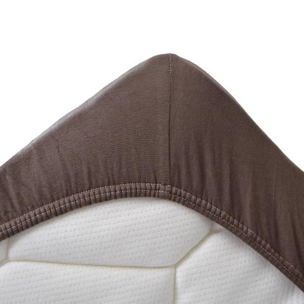 Snoozing Jersey Stretch - Hoeslaken - 120/130x200/220/210 - Bruin