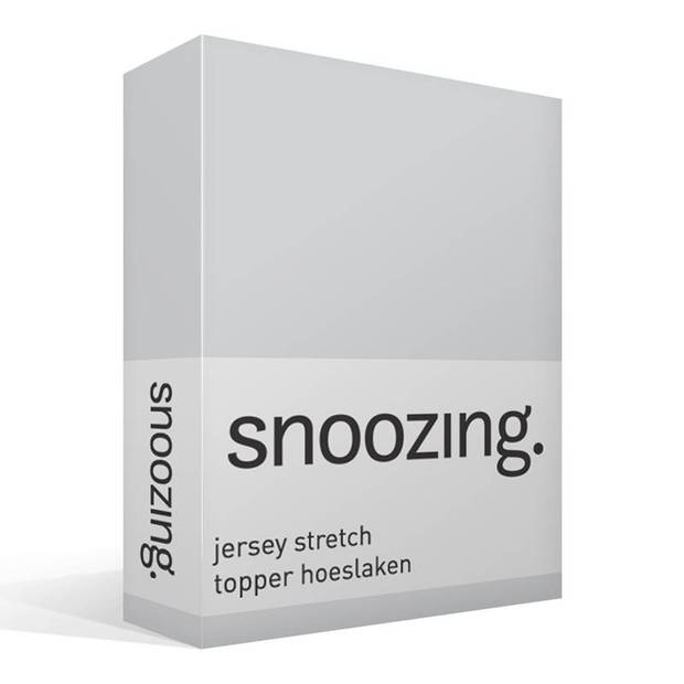 Snoozing Stretch - Topper - Hoeslaken - 90/100x200/220/210 - Grijs