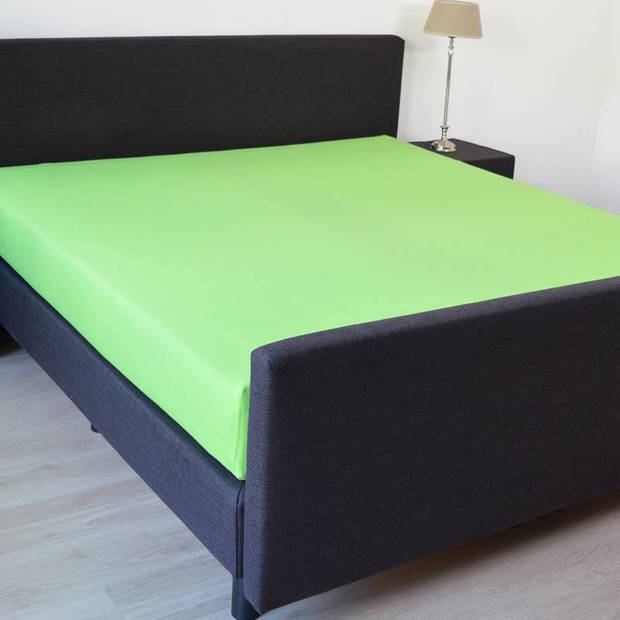 Snoozing Jersey Stretch - Hoeslaken - 140/150x200/220/210 - Lime