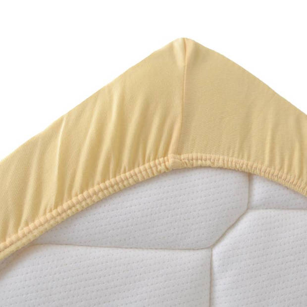 Snoozing Stretch - Topper - Hoeslaken - 140/150x200/220/210 - Geel