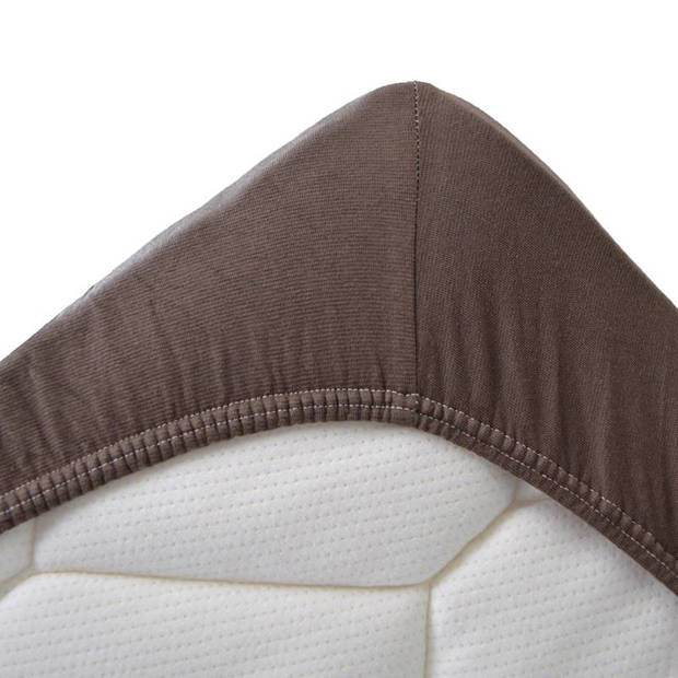Snoozing Stretch - Topper - Hoeslaken - 70/80x200/220/210 - Bruin