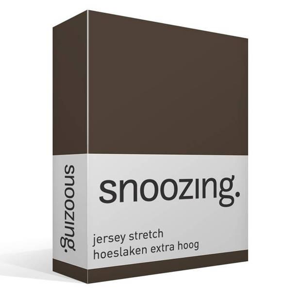 Snoozing Stretch - Hoeslaken - Extra Hoog - 90/100x200/220/210 - Bruin