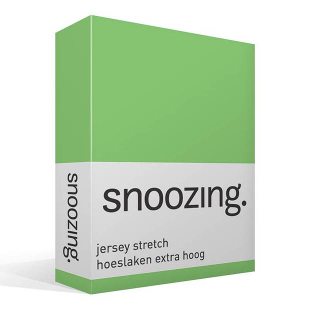 Snoozing Stretch - Hoeslaken - Extra Hoog - 140/150x200/220/210 - Lime