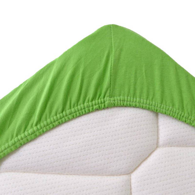 Snoozing Stretch - Hoeslaken - Extra Hoog - 70/80x200/220/210 - Lime