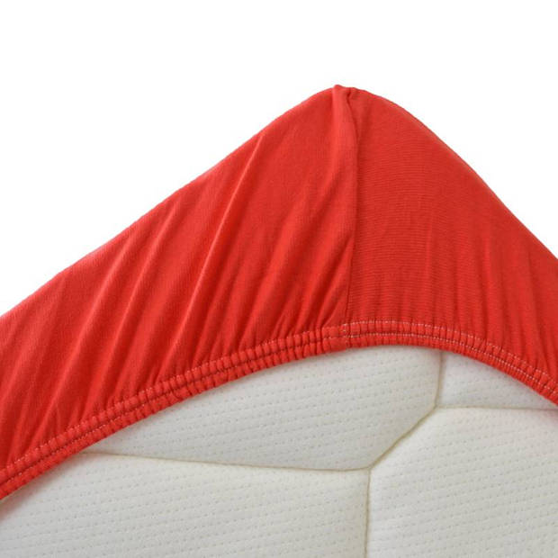 Snoozing Stretch - Hoeslaken - Extra Hoog - 140/150x200/220/210 - Rood