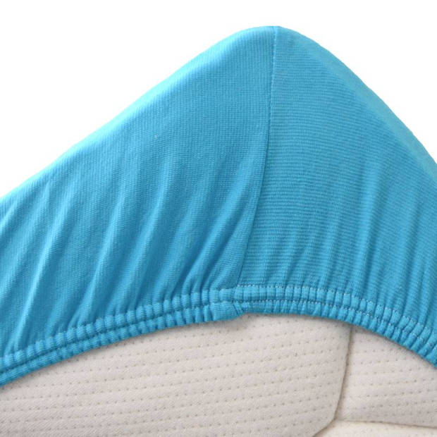 Snoozing Stretch - Hoeslaken - Extra Hoog - 160/180x200/220/210 - Turquoise
