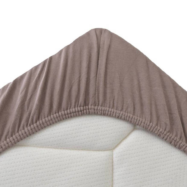Snoozing Stretch - Hoeslaken - Extra Hoog - 120/130x200/220/210 - Taupe