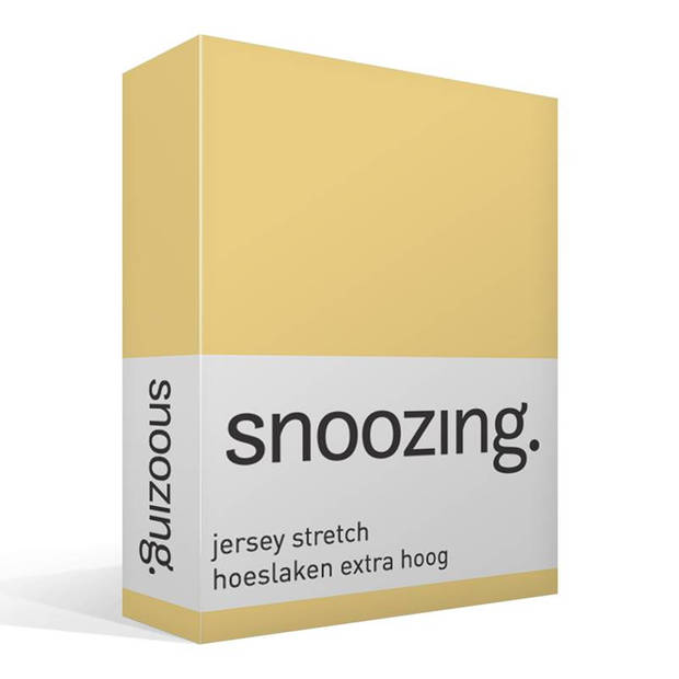 Snoozing Stretch - Hoeslaken - Extra Hoog - 70/80x200/220/210 - Geel