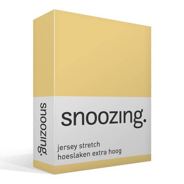 Snoozing Stretch - Hoeslaken - Extra Hoog - 120/130x200/220/210 - Geel