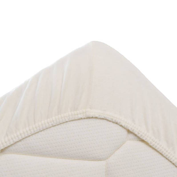 Snoozing Jersey Stretch - Hoeslaken - 140/150x200/220/210 - Ivoor