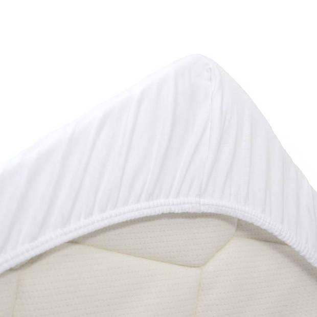 Snoozing Jersey Stretch - Hoeslaken - 90/100x200/220/210 - Wit