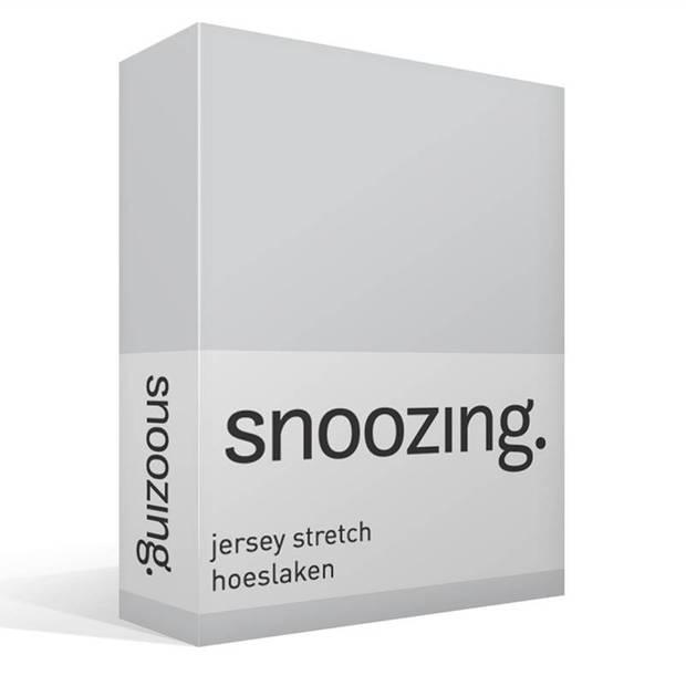 Snoozing Jersey Stretch - Hoeslaken - 140/150x200/220/210 - Grijs