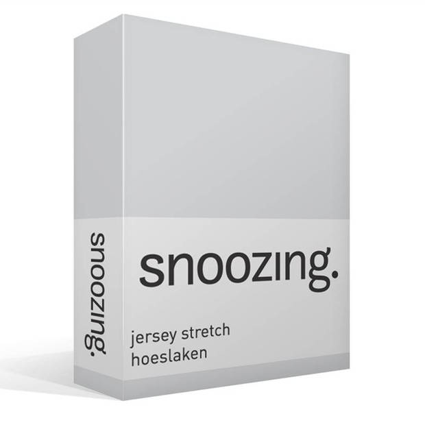 Snoozing Jersey Stretch - Hoeslaken - 120/130x200/220/210 - Grijs