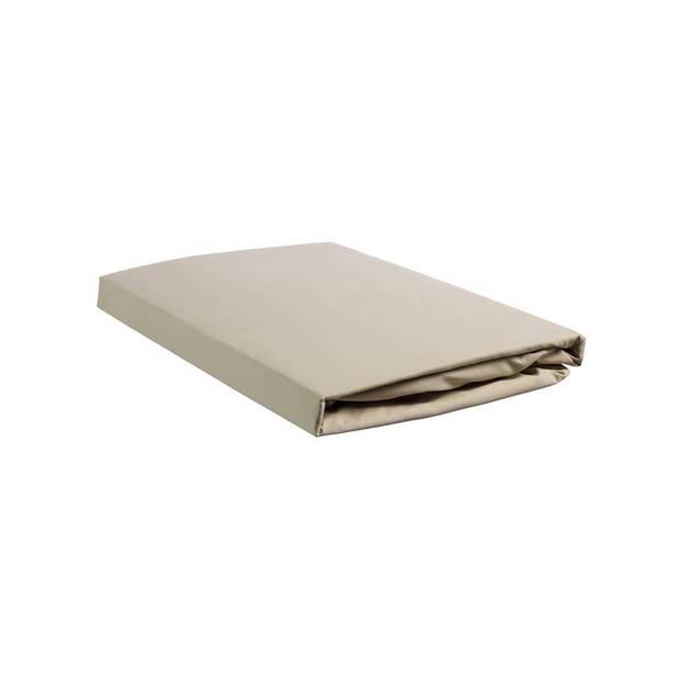 Beddinghouse percale katoen hoeslaken - 100% percale katoen - 1-persoons (80/90x210/220 cm) - Sand