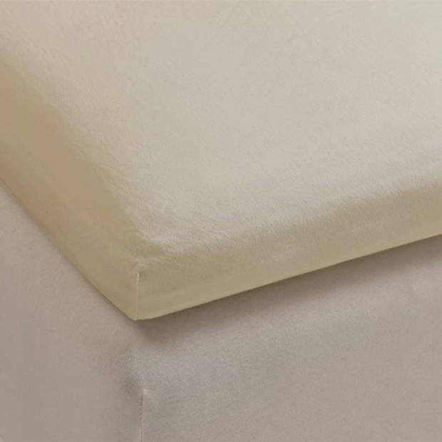 Beddinghouse percale katoen topper hoeslaken - 100% percale katoen - 1-persoons (80/90x210/220 cm) - Sand