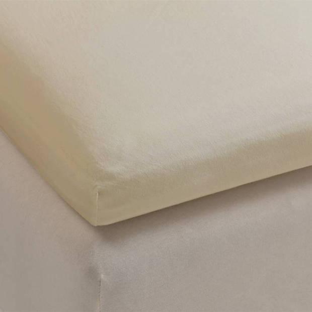 Beddinghouse percale katoen topper hoeslaken - 100% percale katoen - 2-persoons (140x210/220 cm) - Sand
